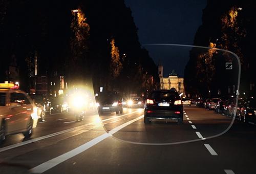 Nachtfahrt - München Ludwigstraße - ZEISS DriveSafe