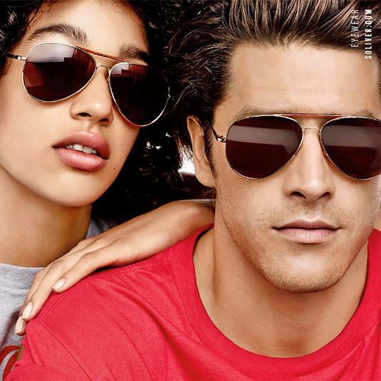 Paar mit Sonnebrillen von s.Oliver