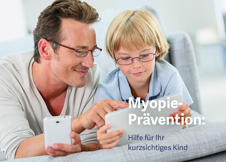 Kopp-Kirsamer - Slider klein Vater und Sohn am Tablet